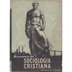 RESUMEN DE SOCIOLOGÍA CRISTIANA