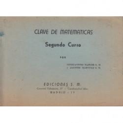 CLAVE DE MATAEMATICAS Segundo Curso PLAN 1957