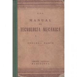 MANUAL DE TECNOLOGÍA MENCÁNICA Segunda Parte