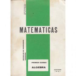 MATEMÁTICAS Escuelas Técnicas de Grado Medio Primer Curso ALGEBRA