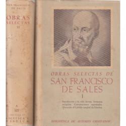 OBRAS SELECTAS DE SAN FRANCISCO DE SALES Tomos I y II