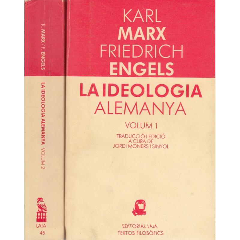 LA IDEOLOGIA ALEMANYA 2 Vols. OBRA COMPLETA