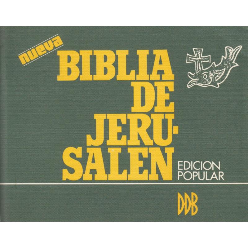 BIBLIA DE JERUSALEN. Edición Popular