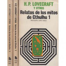 RELATOS DE LOS MITOS DE CTHULHU 3 Tomos OBRA COMPLETA