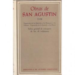 OBRAS DE SAN AGUSTIN. Tomo XVIII. Edición BILINGÜE