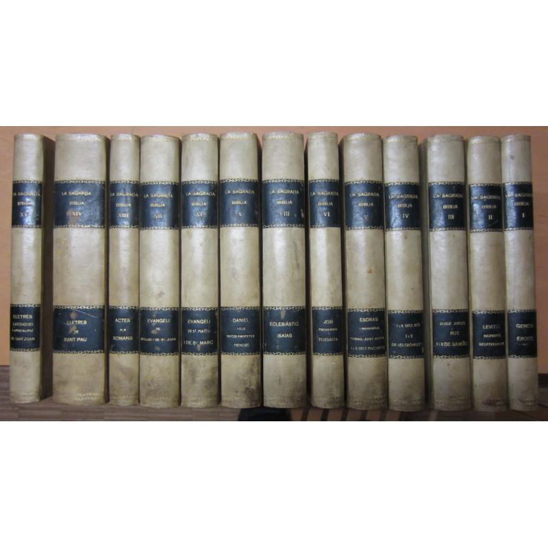 LA SAGRADA BIBLIA 13 Tomos de 15 OBRA COMPLETA (Los Tomos VII y IX Unicamente sin encuadernar. Visibles en Segundad FOTO)