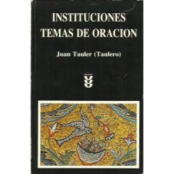 INSTITUCIONES - TEMAS DE ORACIÓN