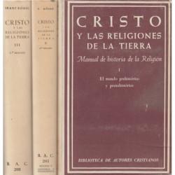 CRISTO Y LAS RELIGIONES DE LA TIERRA en Tres Tomos OBRA COMPLETA
