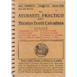 EL AYUDANTE PRÁCTICO DEL TÉCNICO TEXTIL CALCULISTA