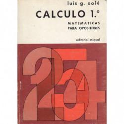 CÁLCULO 1º Matematicas para Opositores