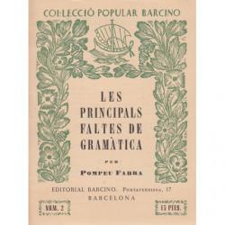 LES PRINCIPALS FALTES DE GRAMÀTICA