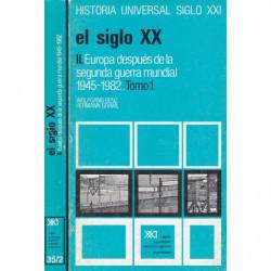 EUROPA DESPUÉS DE LA SEGUNDA GUERRA MUNDIAL 1945-1982 2 Tomos OBRA COMPLETA