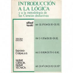 INTRODUCCIÓN A LA LÓGICA Y A LA METODOLOGÍA DE LAS CIENCIAS DEDUCTIVAS