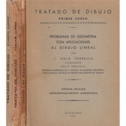 TRATADO DE DIBUJO Primer, Segundo, Tercer y Cuarto Curso, 4 TOMOS