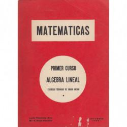 MATEMATICAS. Primer Curso ÁLGEBRA LINEAL para Escuelas Técnicas de Grado Medio