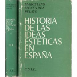 HISTORIA DE LAS IDEAS ESTETICAS EN ESPAÑA. 2 Vols OBRA COMPLETA