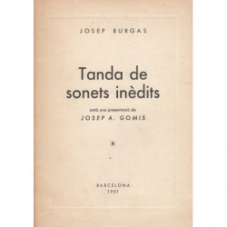 TANDA DE SONETS INÉDITS