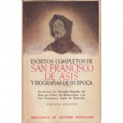 ESCRITOS COMPLETOS DE SAN FRANCISCO DE ASIS  Y BIOGRAFIAS DE SU EPOCA