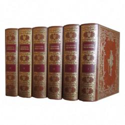 MEMORIAS DE JACOBO CASANOVA DE SEINGALT. 6 Tomos (OBRA COMPLETA) Edición Enriquecida con 200 Grabados y 1 Frontispicio de August