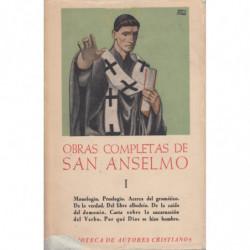 OBRAS COMPLETAS de SAN ANSELMO. Tomo I