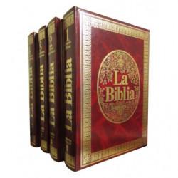 LA BIBLIA, MENSAJE VIVO 4 Tomos OBRA COMPETA