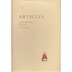 OBRES DE MOSSEN LLUÍS CARRERAS. Vol III ARTICLES. Apologètics, Socials i Ascètics