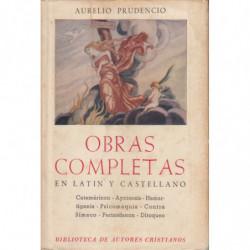 OBRAS COMPLETAS DE AURELIO PRUDENCIO. Edición Bilingüe