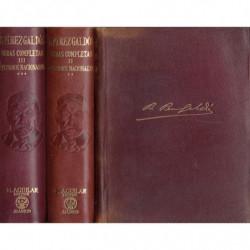 OBRAS COMPLETAS DE DON BENITO PEREZ GALDOS. Tomos I, II y III de LOS EPISODIOS NACIONALES (COMPLETOS)