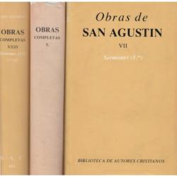 SESRMONES (1º - 2º - 3º) completos. OBRAS COMPLETAS DE SAN AGUSTIN  Tomos VII, X, XXIII. Edición Bilingüe