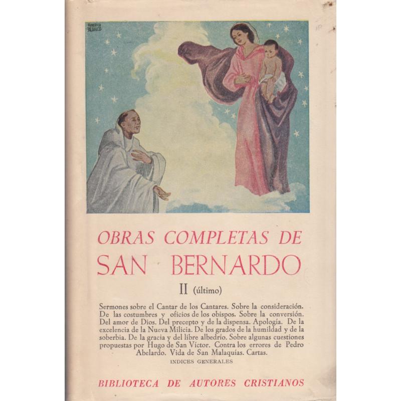 OBRAS COMPLETAS DE SAN BERNARDO Tomo II y Ultimo