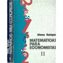 MATEMÁTICAS PARA ECONOMISTAS ( TOMOS I Y II )