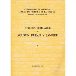 CUADERNOS DE ARQUEOLOGÍA E HISTORIA DE LA CIUDAD - ESTUDIOS DEDICADOS A AGUSTÍN DURÁN Y SANPERE VOL I