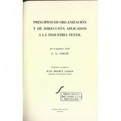 PRINCIPIOS DE ORGANIZACION Y DE DIRECCION APLICADOS A LA INDUSTRIA TEXTIL