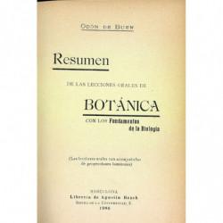 RESUMEN DE LAS LECCIONES ORALES DE BOTANICA CON LOS FUNDAMENTOS DE LA BIOLOGIA