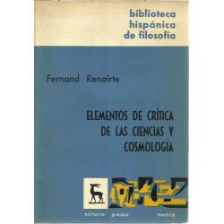 ELEMENTOS DE CRÍTICA DE LAS CIENCIAS Y COSMOLOGÍA