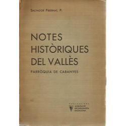 NOTES HISTÒRIQUES DEL VALLÈS Parròquia de Cabanyes