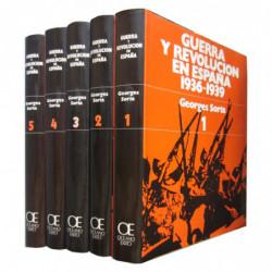 GUERRA Y REVOLUCIÓN EN ESPAÑA 1936-1939 5 Tomos OBRA COMPLETA