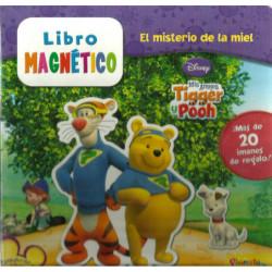 EL MISTERIO DE LA MIEL, Mis amigos Tigger y Pooh LIBRO MAGNETICO DISNEY con más de 20 imanes de regalo