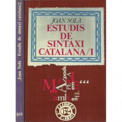 ESTUDIS DE SINTAXI CATALANA 1 i 2 2 Vols. OBRA COMPLERTA