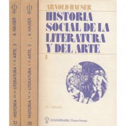 HISTORIA SOCIAL DE LA LITERATURA Y DEL ARTE 3 Tomos OBRA COMPLETA