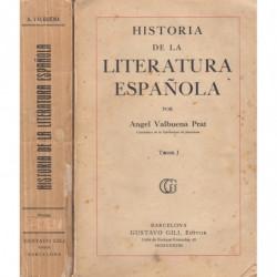 HISTORIA DE LA LITERATURA ESPAÑOLA 2 Tomos OBRA COMPLETA. Desde el Medievo a 1935