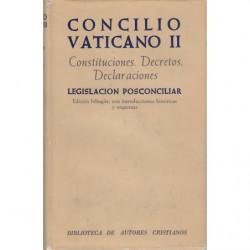 CONCILIO VATICANO II Constituciones, Decretos, Declaraciones, Legislación posconciliar