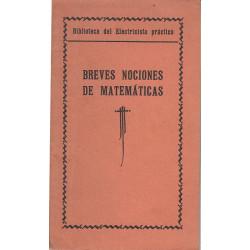 BREVES NOCIONES DE MATEMATICAS de LA BIBLIOTECA DEL ELECTRICISTA PRÁCTICO