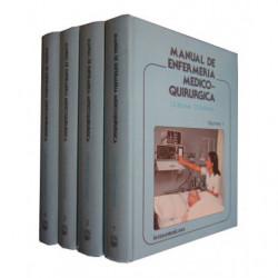 MANUAL DE ENFERMERÍA MEDICOQUIRURGICA 4 Tomos OBRA COMPLETA